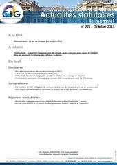 actualites statutaires le mensuel octobre 2013 2