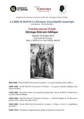 bible de retif 3eme journee affiche