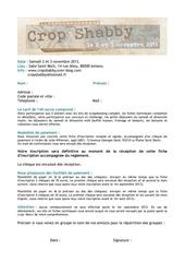 fiche inscription crop shabby 2013
