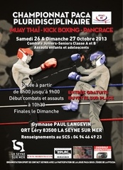affiche kickboxing
