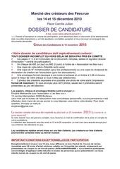 dossier candidature marche fe es rue 2013