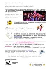 mail d info concert 2013 10 17