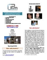 programme upim 4eme trim 2013