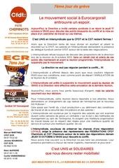 communication cfdt et cgt 7eme jour de greve chez eurocargorail