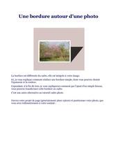 Fichier PDF la bordure autour d une photo