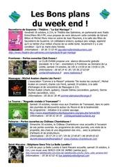 les bons plans du week end semaine n 42 2013