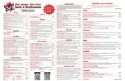 Fichier PDF menu repas
