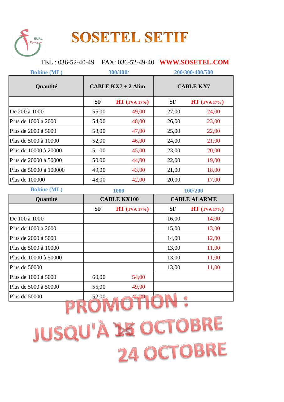 Aperçu du document cable  PROMO OCT 2013.pdf - page 1/1