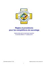 Fichier PDF regles et procedures pour les competitions de sauvetage