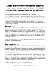 les corporations 2072 printable
