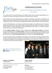 mafle communique presse grand souper 2013