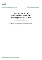 projet sportif 9 18ans 2013 2014