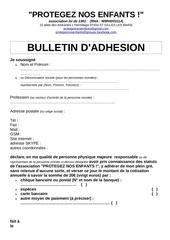 bulletin adhesion pne