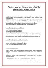 Fichier PDF petition changement du protocole de conge