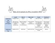 Fichier PDF menu de la semaine du 28 au 1er novembre