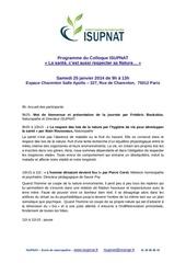 bulletin dinscription matin extrieurs colloque isupnat 2013