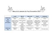 Fichier PDF menu de la semaine du 4 au 8 novembre 2013