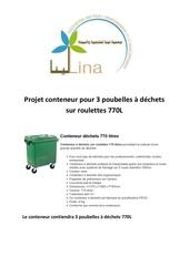 projet conteneur pour les poubelles a dechets sur roulettes 770l