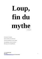 loup fin du mythe