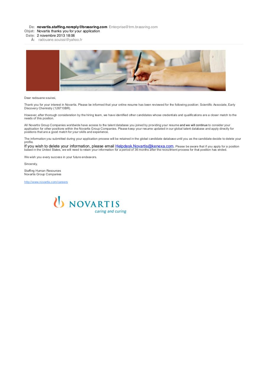 Aperçu du document Novartis thanks you for your application.pdf - page 1/1