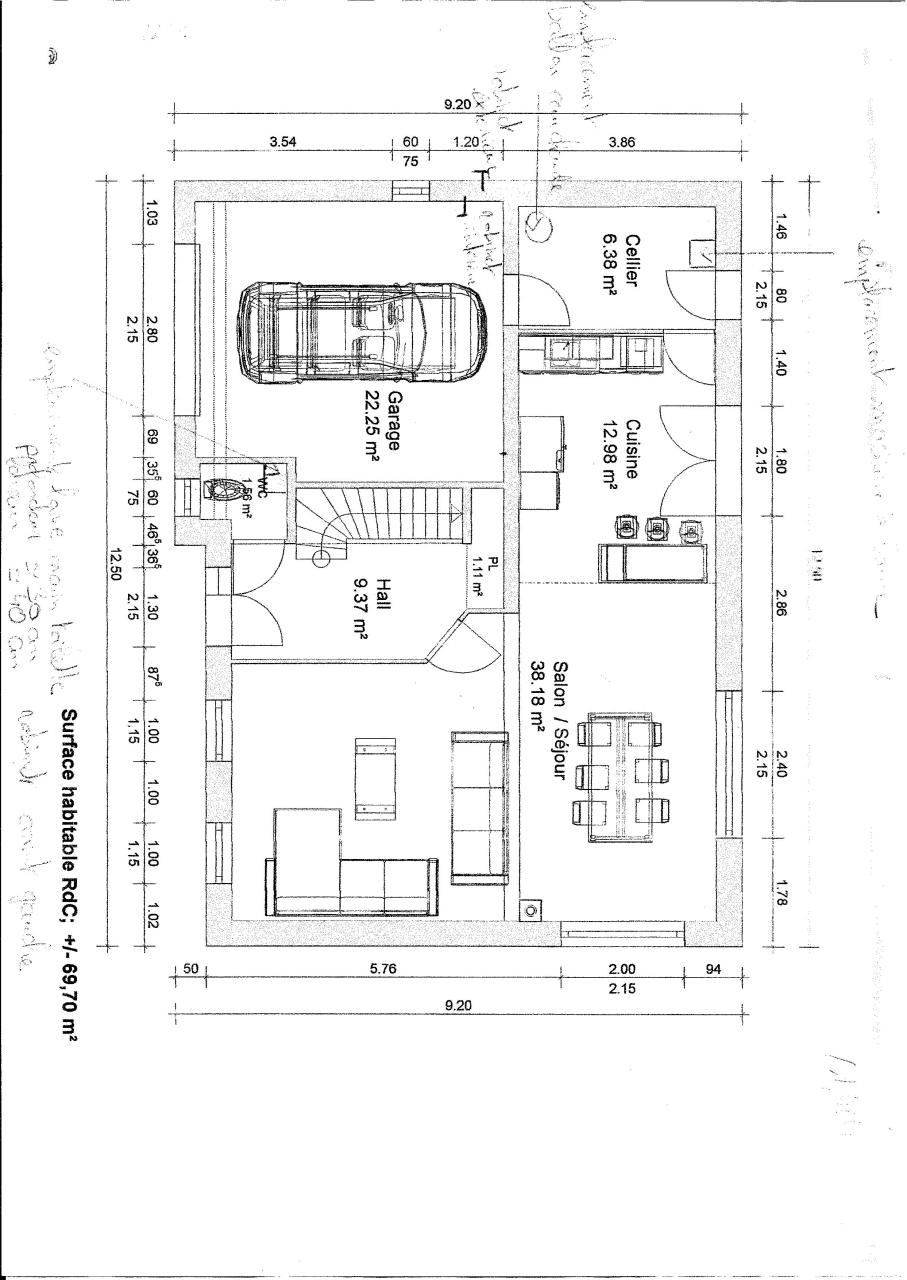 plan rez de chaussee plomberie page 1 1 fichier pdf. Black Bedroom Furniture Sets. Home Design Ideas