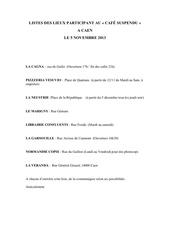 Fichier PDF liste des lieux caen