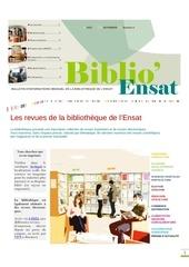 newsletter biblioensat novembre2013