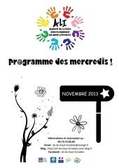 programme activites novembre
