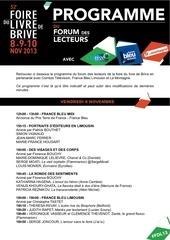 programme forumdeslecteurs fdl13