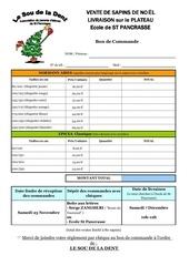 bon de commande sapins noel 2013