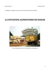 securite alimentaire dakar
