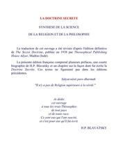 blavatsky la doctrine secrete tome 1