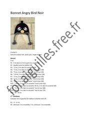 Fichier PDF bonnet angry bird noir