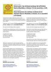 hommage occitan aniane 11 novembre