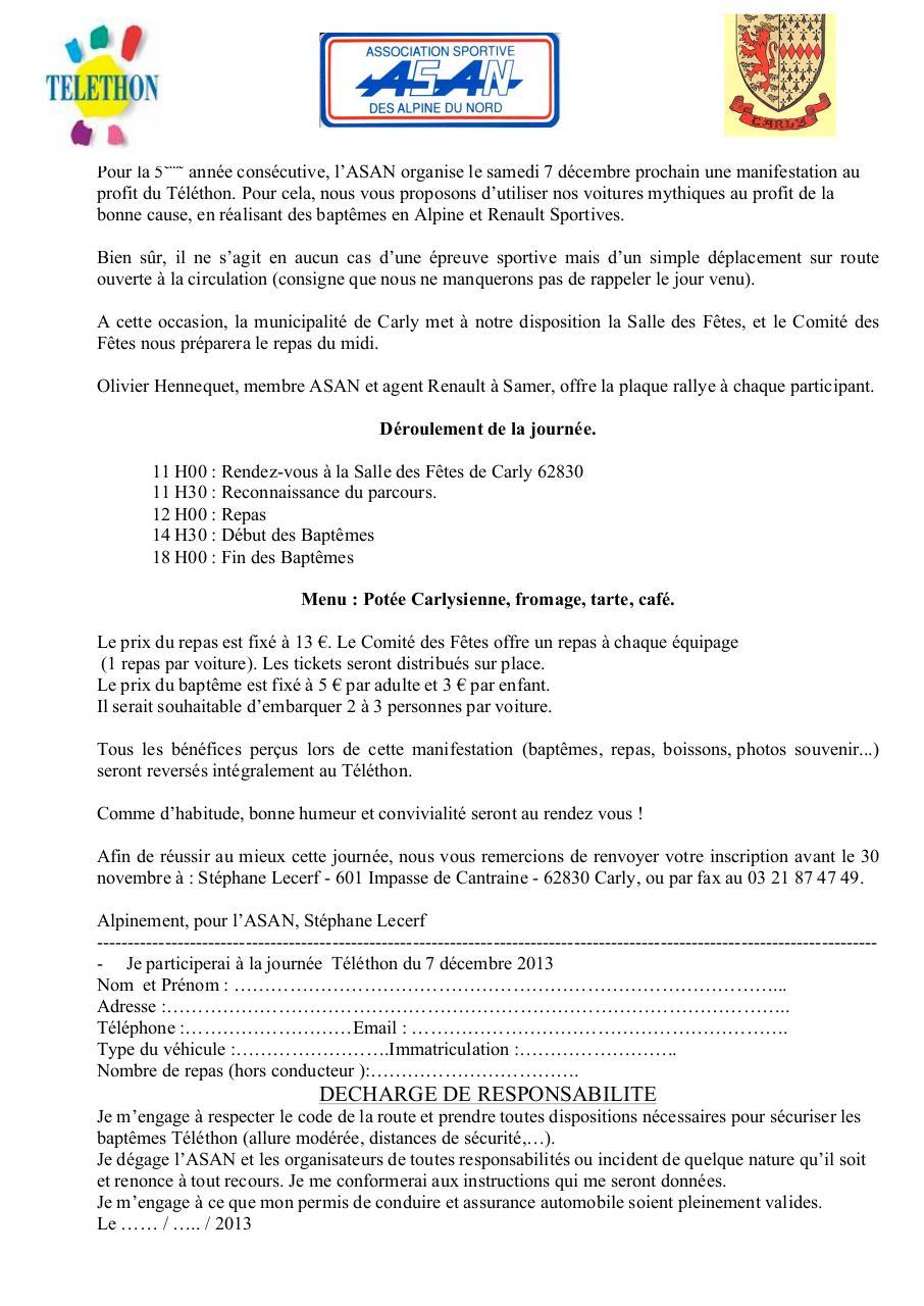 inscription t l thon inscription t l thon 2013 pdf fichier pdf. Black Bedroom Furniture Sets. Home Design Ideas