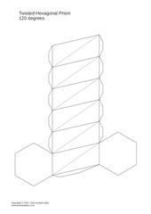 twisted hexagonal prism