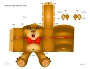 valentine teddy bear papercraft 0110