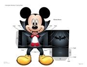 vampire mickey mouse halloween candy box printable 0911