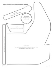 Fichier PDF woodys cowboy boot christmas stocking craft sf template 0412