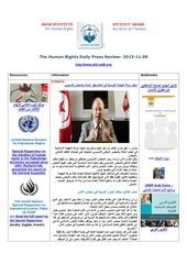 aihr iadh human rights press review 2013 11 09