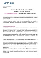 r esultats it s only rock n roll artcurial 7 novembre 2013