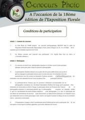conditions de participation 2014