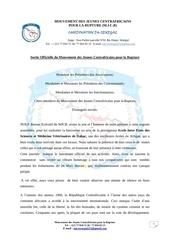discours de la sortie officielle du mjcr senegal