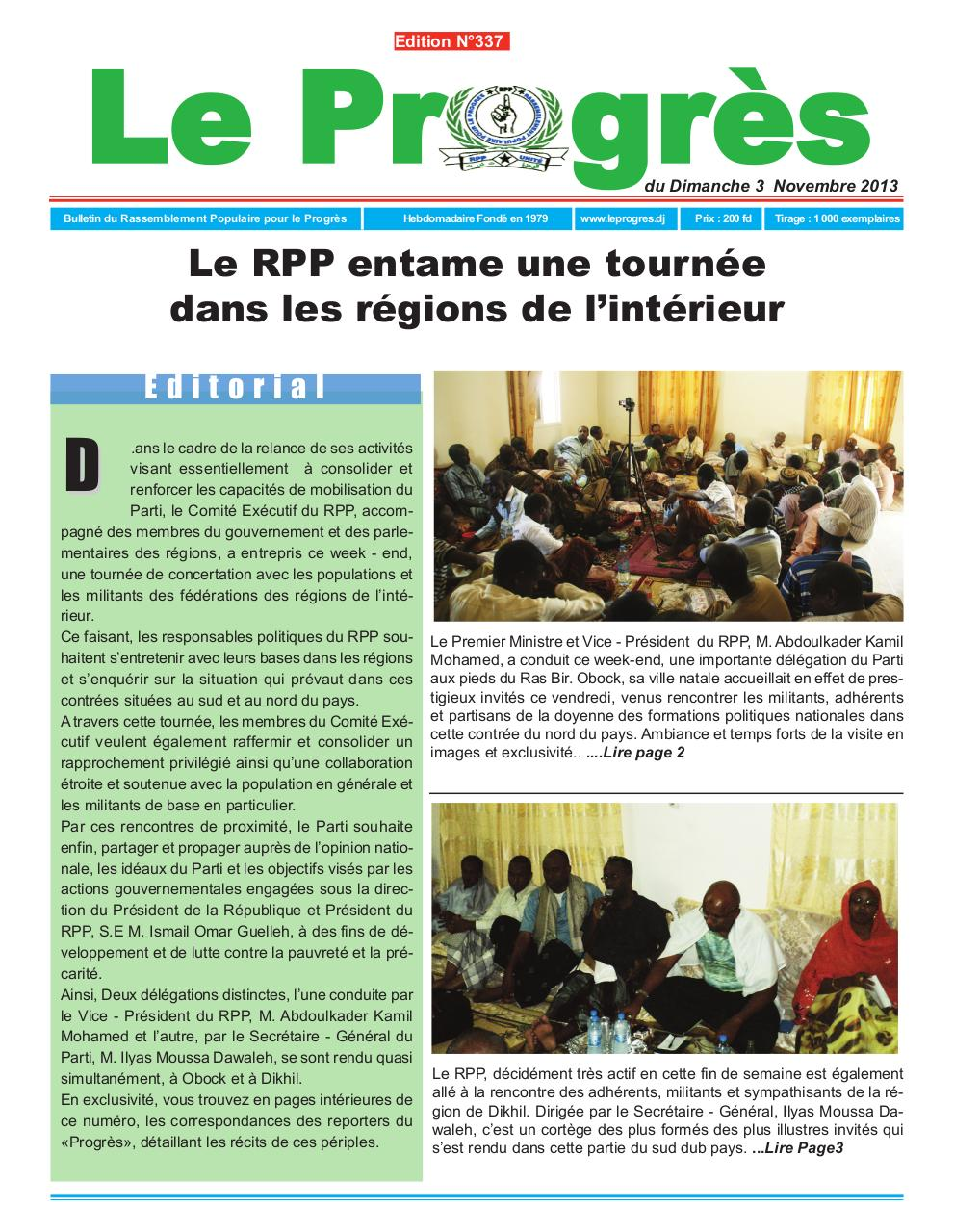 Journal Le progres Edition N°337 du 3 Novembre 2013.pdf - page 1/8