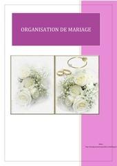 classeur mariage