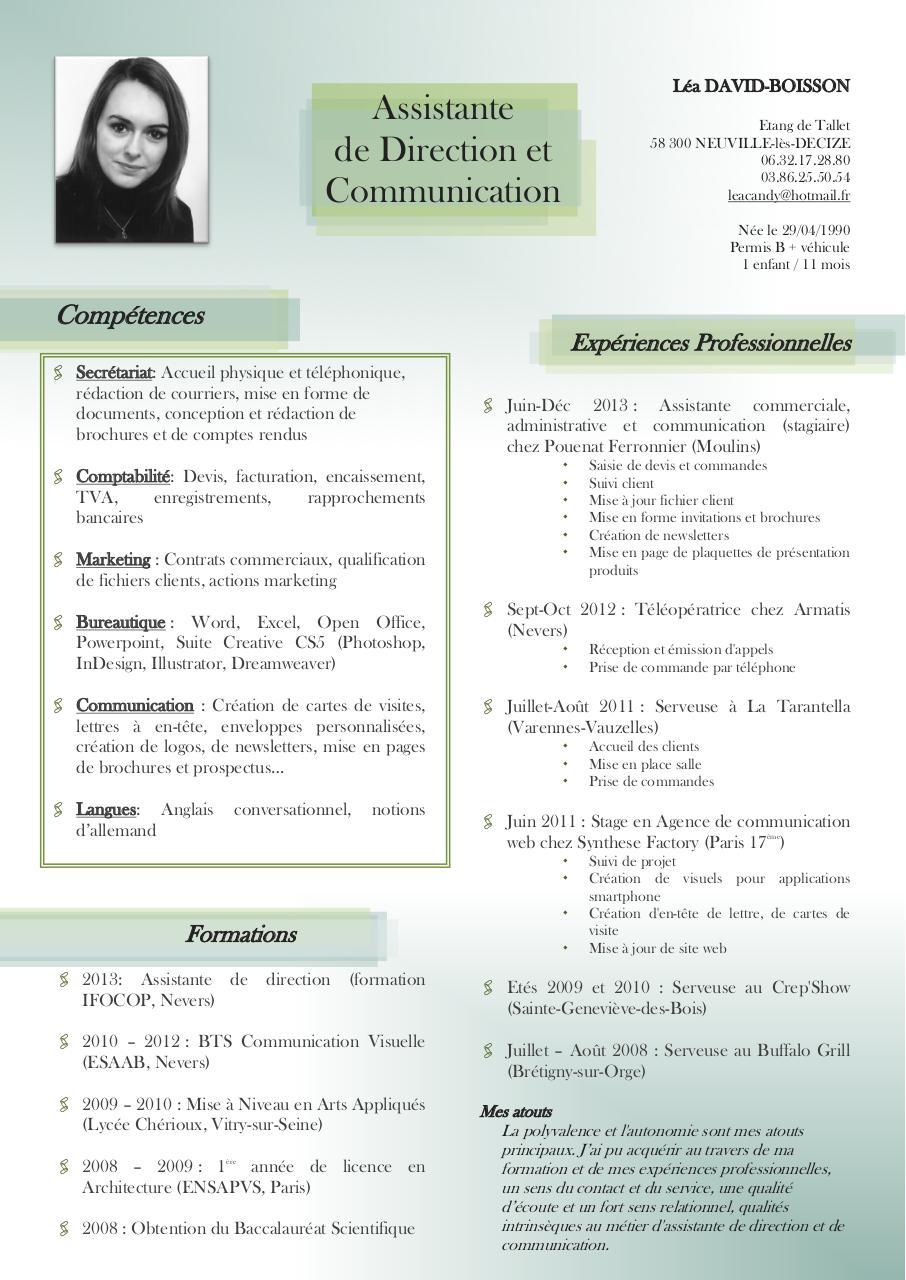 cv lea david-boisson pdf par stagiaire