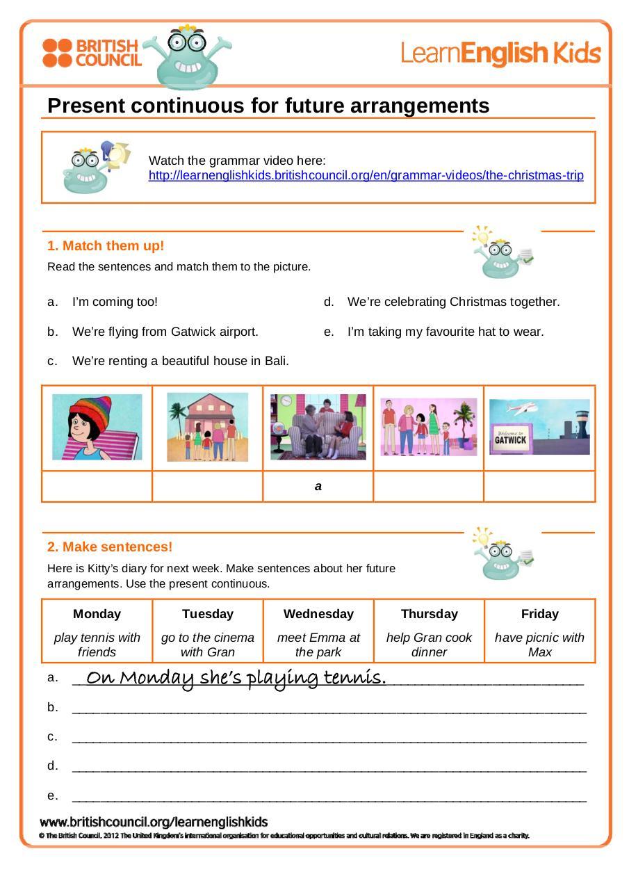 Adverbs par The British Council - Grammar_worksheet_present_continuous ...