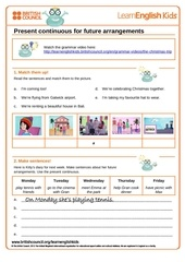 Fichier PDF grammar worksheet present continuous future gwg the chrismas trip final