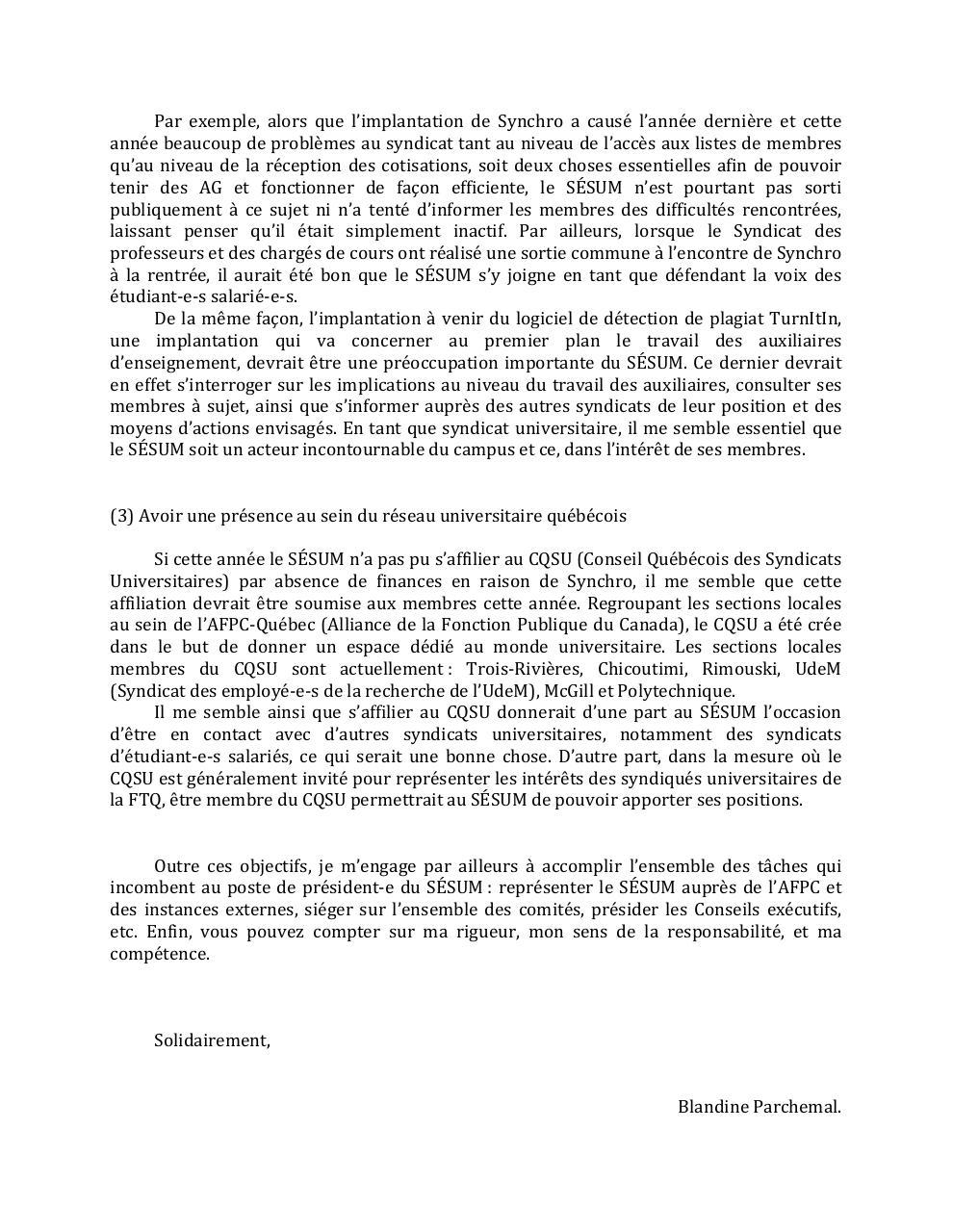 lettre de candidature au poste de la pr u00e9sidence du s u00c9sum docx par blandine parchemal