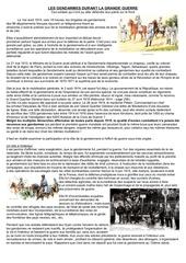 la gendarmerie et la grande guerre